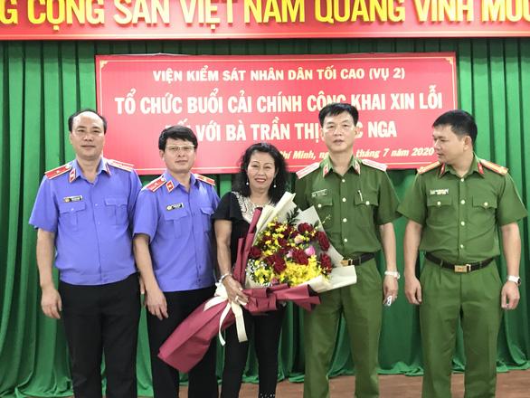 Viện KSND tối cao xin lỗi vì gây oan sai cho luật gia Trần Thị Ngọc Nga - Ảnh 1.