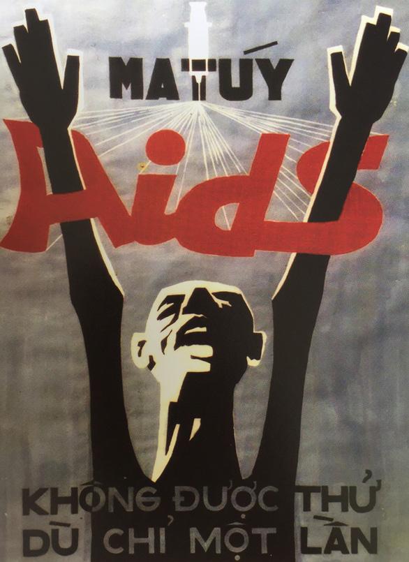 Tác giả tranh cổ động Ma túy - AIDS 'kinh điển' triển lãm 100 tác phẩm - Ảnh 1.