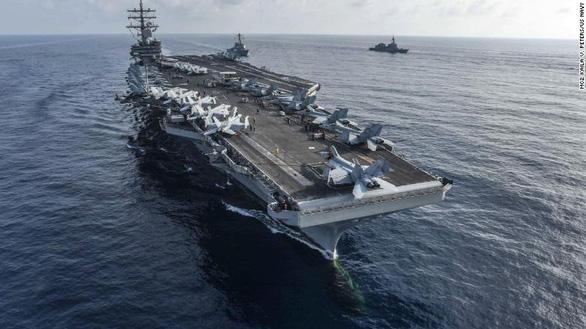 Mỹ điều 2 tàu sân bay và nhiều tàu chiến tới Biển Đông gần nơi Trung Quốc tập trận