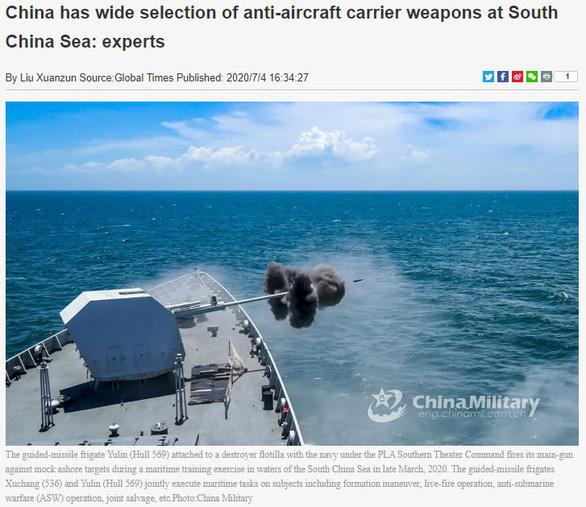 Báo Trung Quốc dọa Mỹ: Bắc Kinh có nhiều sát thủ diệt tàu sân bay ở Biển Đông - Ảnh 1.