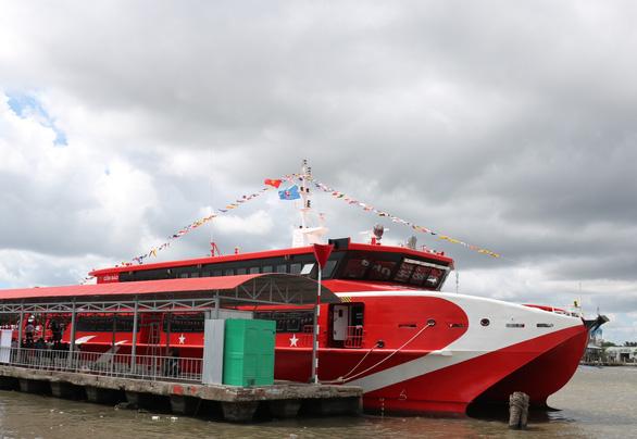 Khai trương tuyến tàu cao tốc du lịch biển đảo Cà Mau - Nam Du - Phú Quốc - Ảnh 1.