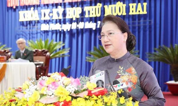 Chủ tịch Quốc hội đánh giá cao công tác cán bộ nữ, bình đẳng giới ở Bình Phước - Ảnh 1.