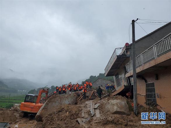 Sạt lở đất chôn vùi 9 người ở Trung Quốc - Ảnh 1.