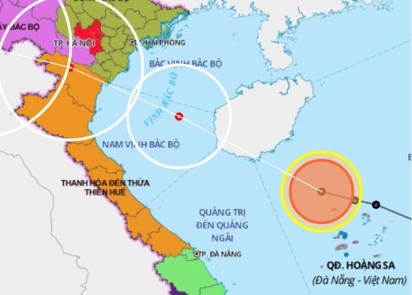 Áp thấp nhiệt đới đang trên biển Hoàng Sa, ngày 2-8 có thể thành bão - Ảnh 1.