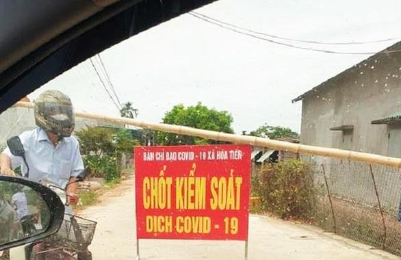 Phong tỏa một thôn ở Thái Bình vì có người dương tính lần 1 với COVID-19 - Ảnh 2.