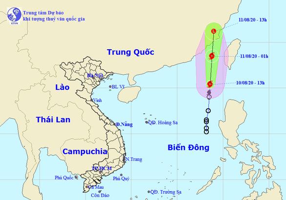 Áp thấp mạnh lên thành bão số 3 nhưng bị bão Jangmi kéo, có thể không ảnh hưởng đất liền - Ảnh 1.