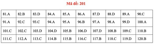 Đề và bài giải môn sinh kỳ thi tốt nghiệp THPT 2020 - đủ 24 mã đề - Ảnh 5.
