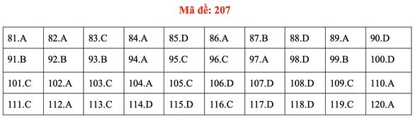 Đề và bài giải môn sinh kỳ thi tốt nghiệp THPT 2020 - đủ 24 mã đề - Ảnh 11.