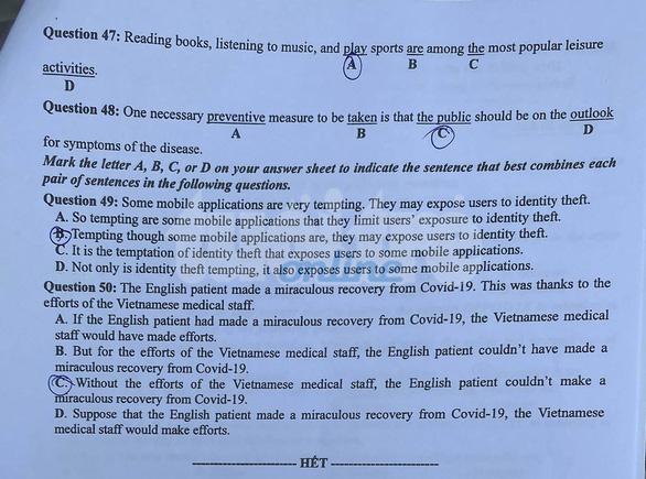 Đề và bài giải tiếng Anh kỳ thi tốt nghiệp THPT 2020 - đủ 24 mã đề - Ảnh 5.
