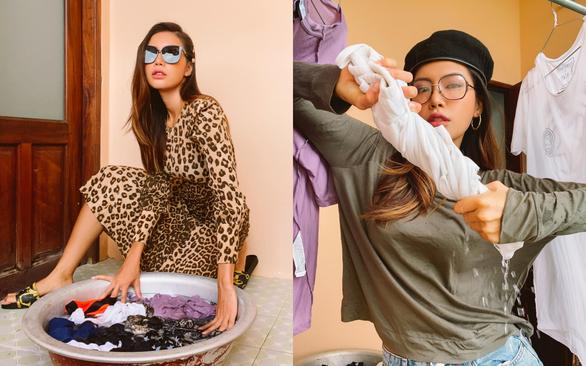 Người mẫu Minh Tú lạc quan làm cả bộ ảnh trải nghiệm cách ly ở Trà Vinh - Ảnh 1.