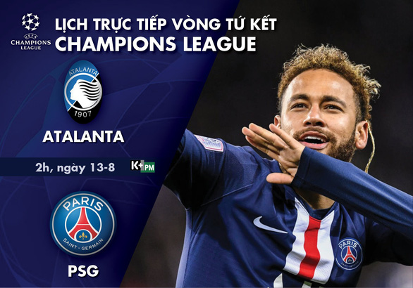 Lịch trực tiếp tứ kết Champions League: Atalanta - PSG - Ảnh 1.
