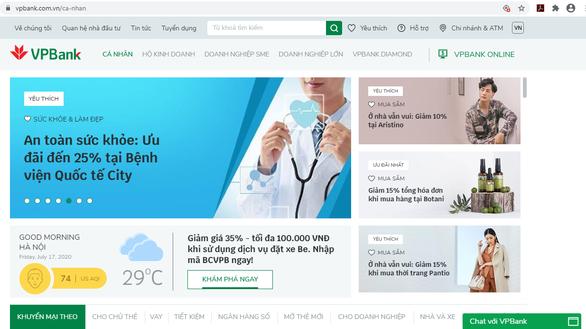 VPBank ra mắt website phiên bản mới tích hợp trí tuệ nhân tạo - Ảnh 1.