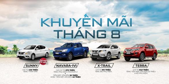 Công bố mức giá mới cho Nissan Sunny và ưu đãi tháng 8 cho các dòng xe Nissan - Ảnh 3.