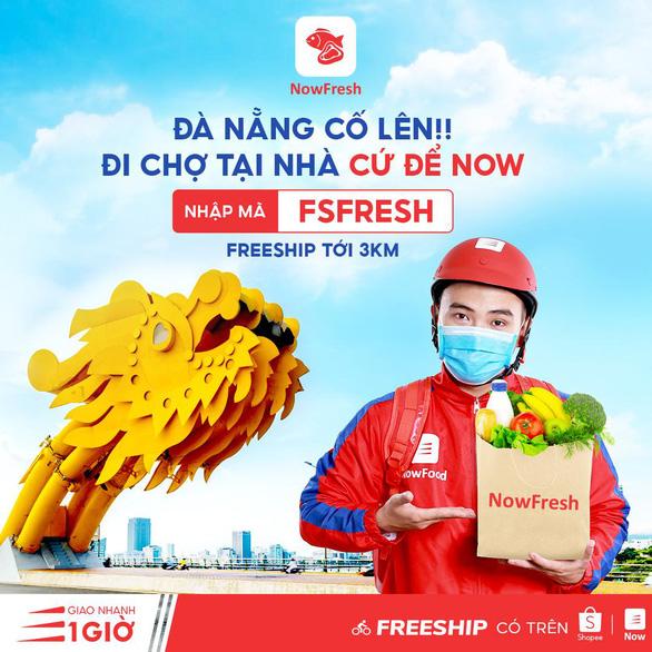 Đà Nẵng: Phát phiếu đi chợ, NOW triển khai đi chợ hộ miễn phí giao hàng đến 3km - Ảnh 1.