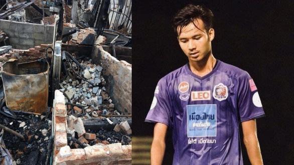Nhà bị cháy rụi, cầu thủ Thái Lan đăng Facebook xin mọi người giúp đỡ - Ảnh 1.