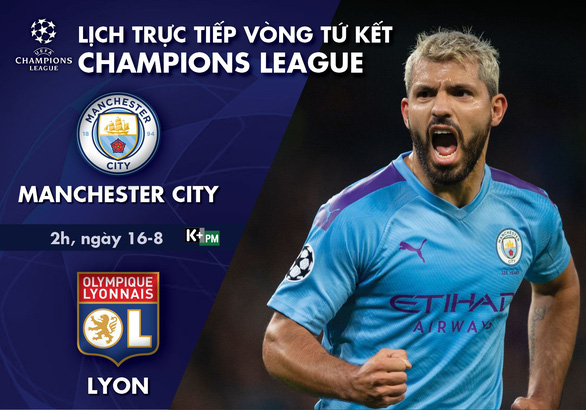 Lịch trực tiếp tứ kết Champions League: Man City - Lyon - Ảnh 1.