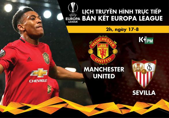 Lịch thi đấu, trực tiếp bán kết Europa League: Man United - Sevilla - Ảnh 1.