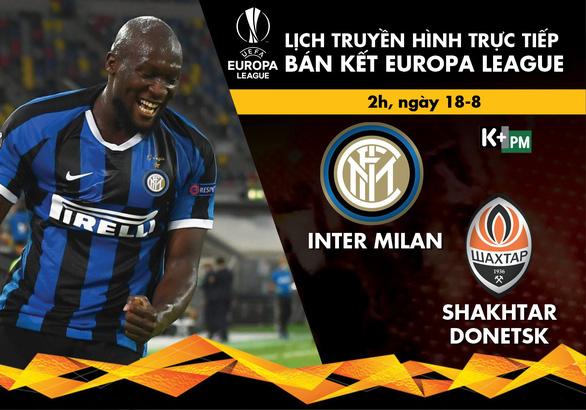 Lịch trực tiếp bán kết Europa League: Inter - Shakhtar - Ảnh 1.