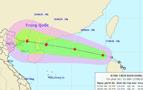 Áp thấp nhiệt đới đã vào Biển Đông, Bắc Bộ, Bắc Trung Bộ mưa lớn - Ảnh 1.