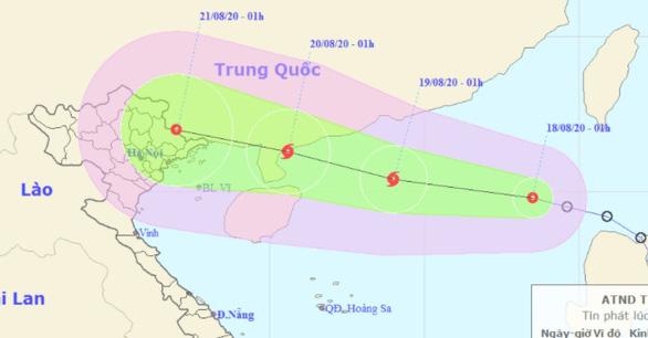 Áp thấp nhiệt đới vào Biển Đông đang mạnh lên thành bão - Ảnh 1.