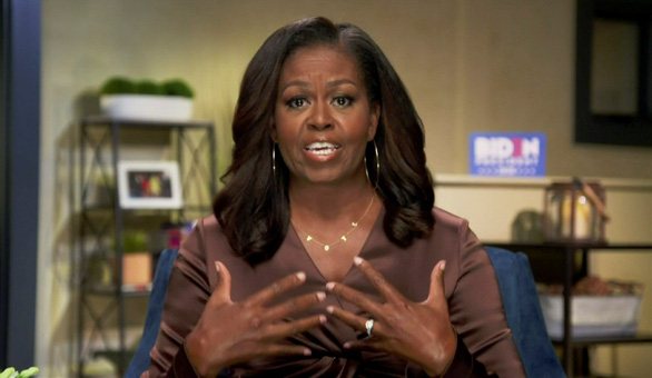 Bà Michelle Obama tin ông Biden sẽ giúp Mỹ vượt qua khủng hoảng - Ảnh 1.