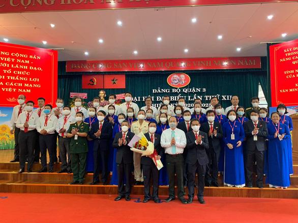 Ông Phạm Thành Kiên tái đắc cử bí thư Quận ủy quận 3 - Ảnh 1.