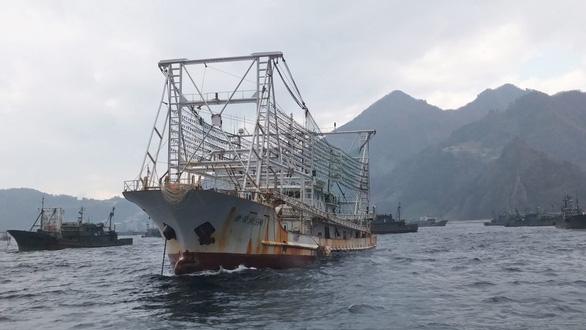 Đội tàu cá khổng lồ của Trung Quốc đang vét cạn đại dương - Ảnh 1.