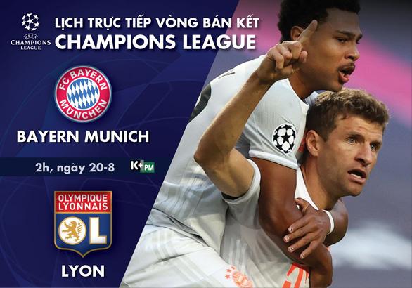 Lịch trực tiếp bán kết Champions League: Bayern Munich - Lyon - Ảnh 1.
