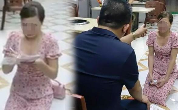 Bắt tạm giam chủ quán bắt nữ khách hàng quỳ gối xin lỗi vì bóc phốt đồ ăn có sán - Ảnh 2.