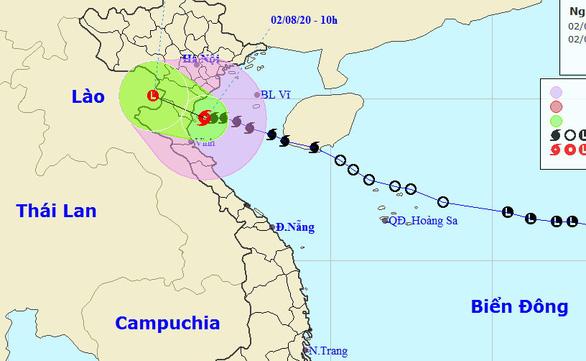 Bão đang ven bờ Thái Bình - Nghệ An, gió giật cấp 10 - Ảnh 1.