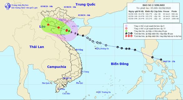 Cách bờ 120km, bão số 2 gây mưa to đến rất to từ Thanh Hóa đến Quảng Bình - Ảnh 1.