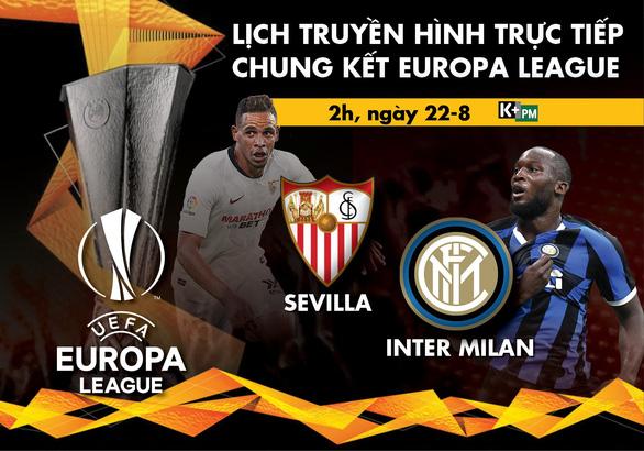 Lịch trực tiếp chung kết Europa League: Sevilla - Inter Milan - Ảnh 1.