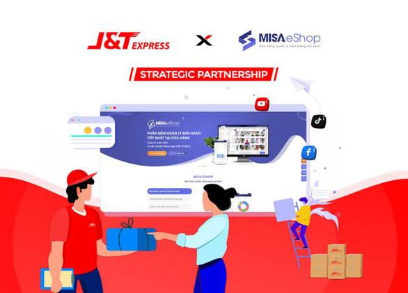 J&T Express và MISA eShop 'bắt tay' - Giải pháp quản lý đơn hàng toàn diện - Ảnh 1.