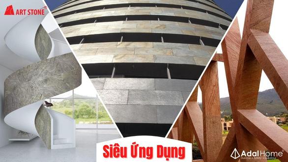 Vật liệu xây dựng độc lạ: ngói bitum phủ đá - đá Art ốp tường - Ảnh 8.