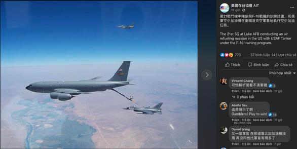 Mỹ công bố ảnh tiếp liệu cho tiêm kích F-16 bán cho Đài Loan - Ảnh 1.
