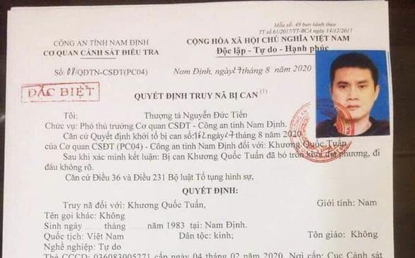 Truy nã đặc biệt cựu cầu thủ Nam Định trốn cách ly khi đang sốt - Ảnh 2.