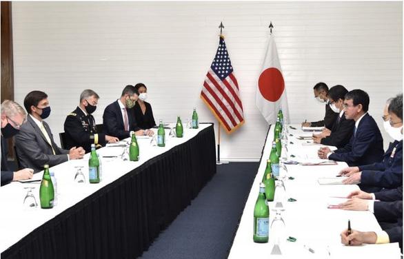 Mỹ - Nhật đồng thanh: Phản đối thay đổi hiện trạng ở Biển Đông bằng vũ lực - Ảnh 1.