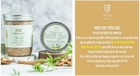 Hà Nội yêu cầu rà soát người ngộ độc do sản phẩm của Pate Minh Chay - Ảnh 1.
