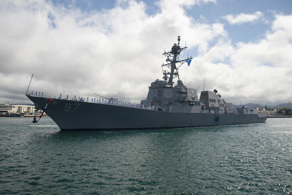 Tàu chiến Mỹ quá cảnh ở eo biển Đài Loan lần 2 trong tuần - Ảnh 1.
