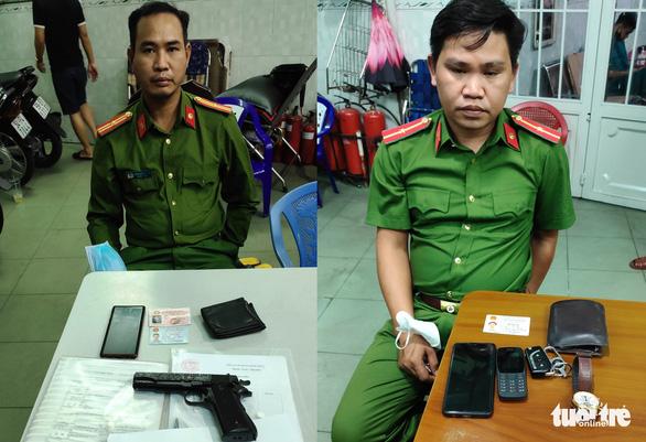 Sĩ quan công an dọa bắt người để tống tiền từng bị bắt vì mua bán xăng dầu giả - Ảnh 1.