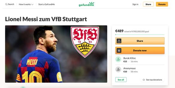 CĐV của tân binh Bundesliga kêu gọi quyên góp hơn 1 tỉ USD để mua... Messi - Ảnh 1.