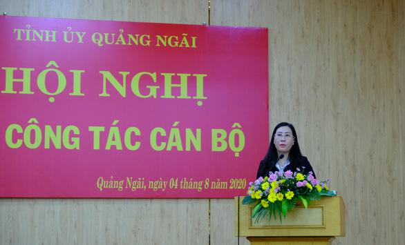 Bà Bùi Thị Quỳnh Vân giữ chức bí thư Tỉnh ủy Quảng Ngãi - Ảnh 1.
