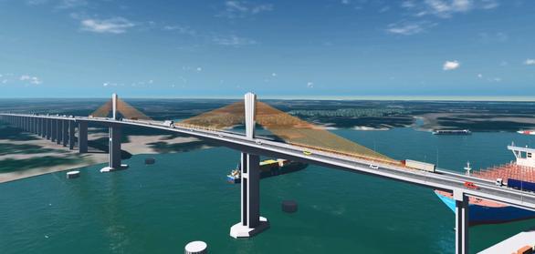 Xây cầu Phước An gần 5.000 tỉ đồng, nối cảng Cái Mép - Thị Vải với cao tốc - Ảnh 1.