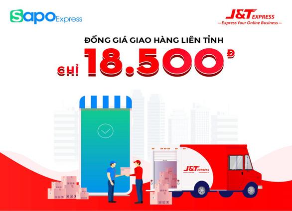 Chuyển phát nhanh J&T Express đồng giá giao hàng liên tỉnh chỉ 18.500đ trên Sapo - Ảnh 1.