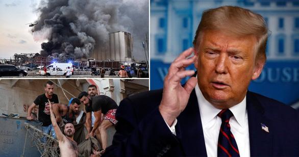 Tổng thống Trump nói nổ lớn ở Lebanon giống một vụ tấn công khủng khiếp - Ảnh 1.