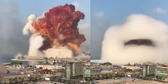 Toàn cảnh vụ nổ ở Lebanon: Vì sao có đám mây hình nấm như bom nguyên tử? - Ảnh 1.