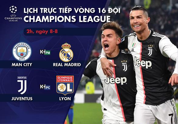 Lịch trực tiếp ngày Champions League trở lại: Man City - Real Madrid - Ảnh 1.