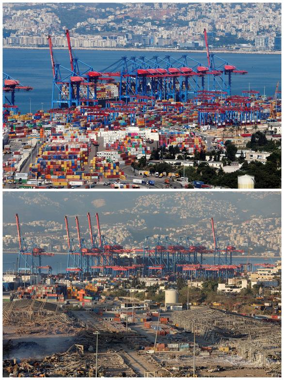 Khó ai nhận ra cảng Beirut trước và sau vụ nổ thảm khốc qua ảnh vệ tinh - Ảnh 3.