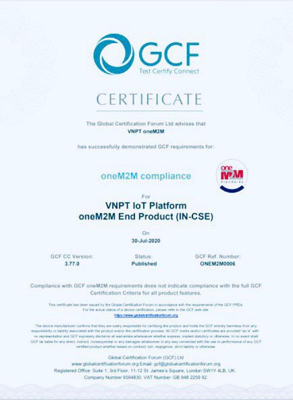 VNPT là đơn vị duy nhất tại Việt Nam đạt chứng chỉ quốc tế oneM2M - Ảnh 1.
