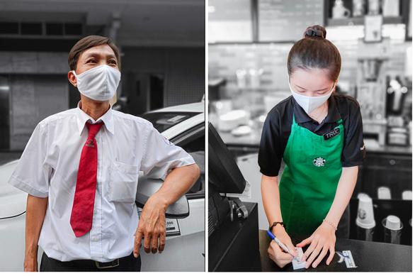 Chùm ảnh: Người Sài Gòn nâng cao ý thức đeo khẩu trang phòng dịch - Ảnh 3.